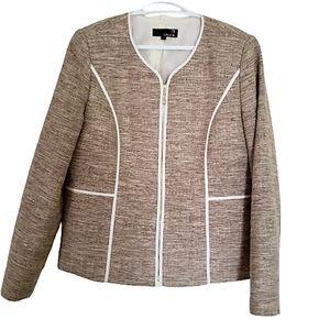Laura short nice structure jacket zipper front 14
